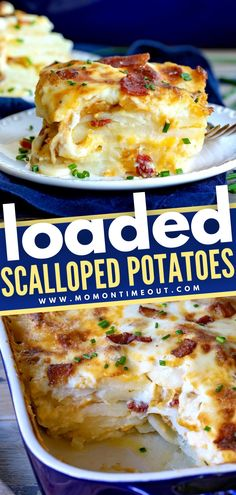 Potato Side Dishes, Vegetable Side Dishes, Vegetable Recipes, Thanksgiving Side Dishes, Thanksgiving Recipes, Fall Recipes, Loaded Scalloped Potatoes Recipe, Potatoe Dinner Recipes, Side Dish Recipes