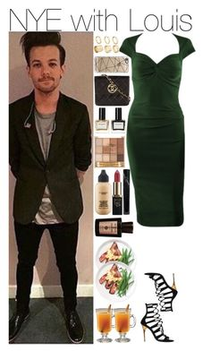 """""""NYE with Louis"""" by mrspayne-1d ❤ liked on Polyvore featuring Balmain, ASOS Curve, Casetify, Chanel, MAC Cosmetics, Manic Panic, L'Oréal Paris and Ambra"""