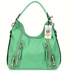 Mint Urban Expressions Midnight Handbag Vegan Leather Bag. FREE SHIPPING + ON SALE $67.50  #urbanexpressionshandbags #urbanexpressionsbags #minthandbags #mintbags #bagmadness #veganbags #veganhandbags #2014handbags