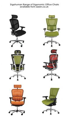 The Ergohuman range of office chairs. Something for everyone....