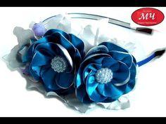 МК резиночки с цветами из репсовой ленты. Канзаши. Цветы из лент. DIY Ribbon flowers - YouTube