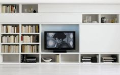 Furniture Interior Spacious For Smart Shelving Unit System Storage With Big Tv…