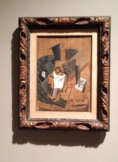 Picasso, Bottle of bass and glass, 1914