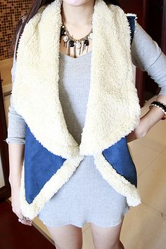 No1125-winter Lady suede stitching lambs wool waistcoat jacket 3 colors