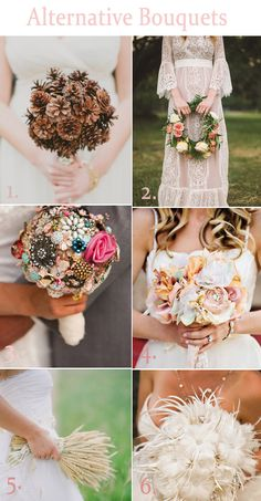 Alternative Bouquets - Lucky in Love Wedding Planning Blog - Seattle Weddings at Banquetevent.com #weddingbouquets