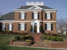 Search our collection of house plans by over 200 designers and architects to find the perfect home plan to build. All house plans can be modified. Brick Face, Colonial House Plans, Georgian Homes, Best House Plans, Build Your Dream Home, Home Theater, Bricks, Architecture Design, Floor Plans