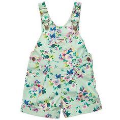OshKosh Bgosh Floral Shortalls - Baby