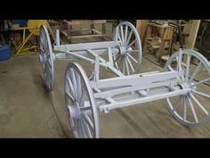 During the Piedmont wagon restoration, this shows the paint color selection along with the undercariage cleanup and reassembly. Wooden Toy Trucks, Wooden Wagon, Wooden Wheel, Horse Drawn Wagon, Old Wagons, Paint Matching, Covered Wagon, Chuck Wagon, Car Trailer