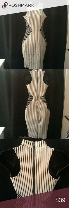 Material Girl Bodycon Midi Dress Cotton /spandex,  Halter Mock neckline, Sleeveless, Bodycon silhouette. New with tag Material Girl Dresses Midi