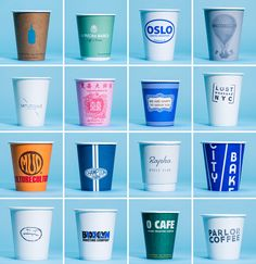 A visual survey of New York City coffee cups, from GP's favorite cafes across the city.