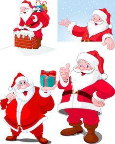 Cartoon Santa Claus illustrations vector