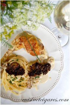 Poulet Jaune, Sauce Vin de Paille et Morilles