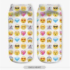 Fun Low Cut Emoji Ankle Socks (9 options)