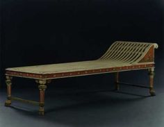 A PAINTED DAY BED IN THE MANNER OF H. E. FREUND Probably Copenhagen. Second Quarter Of The 19th Century.