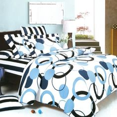 Blancho Bedding  Artistic Blue 100 Cotton 7PC MEGA Comforter CoverDuvet Cover Combo King Size >>> Continue to the product at the image link.