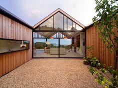 binnenplaats, villa Tasmanië, Australië, 3-delig dak - Een zigzaggend dak; iets voor jou? - Wonen voor Mannen