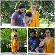 Image may contain: 5 people, outdoor Taimur Ali Khan Pataudi, Saif Ali Khan, Bollywood Celebrities, Bollywood Actress, Pool Party Dresses, Lawn Suits, Kareena Kapoor Khan, Ethnic Dress, Bollywood Stars
