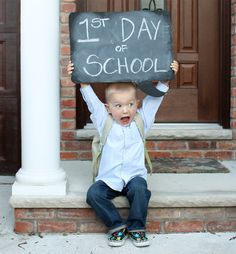 1st day of school photo