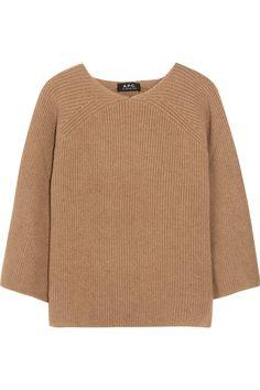 A.P.C. Atelier de Production et de Création Ribbed camel hair sweater NET-A-PORTER.COM