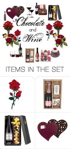 """""""Chocolate and Wine"""" by neesyrn ❤ liked on Polyvore featuring art"""