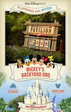 Walt Disney World Planning Pins: Mickey's Backyard BBQ