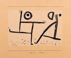 Paul Klee, Duel on ArtStack #paul-klee #art