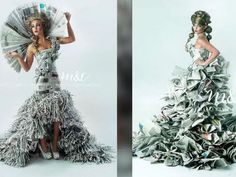 High-fashion gowns made from newspapers put Camby duo on front page - TheIndyChannel.com