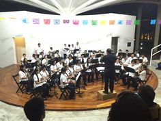 Cozumel's youth orchestra. These young musicians are really talented, and such pros.
