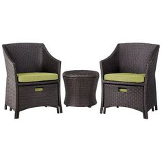 Threshold™ Loft Wicker Patio Conversation Furniture Set - This set is PERFECT for our front porch. And it is on SALE! Patio Seating, Patio Chairs, Outdoor Chairs, Patio Furniture Sets, Wicker Furniture, Furniture Ideas, Furniture Layout, Refurbished Furniture, Industrial Furniture