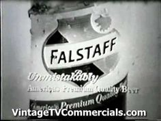 Old Falstaff Beer Commercial  I guess back then only men were supposed to like beer?