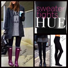 """BLACK SWEATER TIGHTS BLACK SWEATER TIGHTS  💟 NEW WITH TAGS 💟  * Cozy & comfortable * Solid opaque black; Designed for layering * Will not fade or shrink; Machine wash.  * Size S approx fits 4'11'-5'9"""" & 100-150 LBS * Size M approx fits 5'3""""-6'0"""" & 120-170 LBS * Size L approx fits  5'2""""-6'0"""" & 150-210 LBS * Super soft, fleece lined; Stretch-To-Fit Style  * Item#:91600  Fabric: 95% Polyester & 5% Spandex Color: Jet Black ✅ Bundle Discounts ✅ 🚫No Trades 🚫 HUE Accessories Hosiery & Socks"""