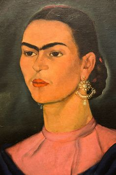 "Frida Kahlo was bed-ridden and isolated for much of her life. She said, ""I paint myself because I am so often alone and because I am the subject I know best."""
