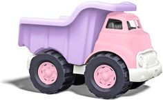 PINK dump truck! Made in USA, from recycled milk jugs, shipped in eco-friendly packaging. I love that it is pink & purple.