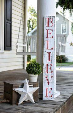 Rustic Christmas Pallet Sign | Christmas Decorations | Rustic Christmas Decor | Holiday Decor | Believe Pallet Sign | Pixie Dust Louisville {Etsy} #affiliate
