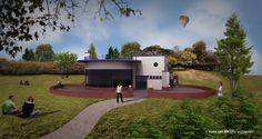 Misschien start binnenkort de bouw van Theeschenkerij De Goffert inNijmegen. Ontwerp Koos van Lith.