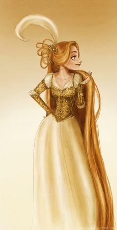"Golden sundress by Arbetta.deviantart.com on @deviantART - Rapunzel from ""Tangled"""