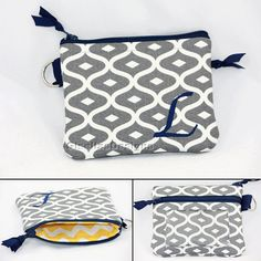 Personalized coin purse with window ID pocket