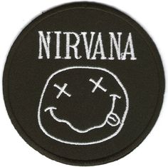 Nirvana American Rock Band Iron on Patch Embroidered Racing DIY T-shirt Jacket Black. on Etsy, $1.20 Bag Patches, Punk Patches, Denim Jacket Patches, Cool Patches, Pin And Patches, Iron On Patches, Denim Coat, Shirt Jacket, Battle Jacket