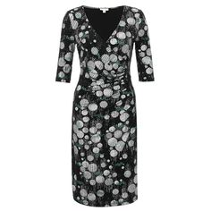 Bauble Side Ruched Dress Silver/Peacock | Fever Designs