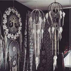 Love these beautiful hanging pieces of art for your den from @aurvgon . So huge and gorgeous!! . . . . . . #treeoflife #feathers #dendecor #decor #bohodecor #crystaldecor #wallhanging #ceilinghanging #workofart #bohemiandecor #gypsydecor #tribaldecor
