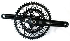 KCNC K3 Road Crankset with cobweb chainrings -light weight (727g).