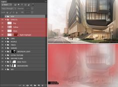 The Art of Rendering: How to Manage the Many Layers of Photoshop Photoshop Rendering, Photoshop Fail, Photoshop Elements, Photoshop Tutorial, 3d Tutorial, Photoshop Illustrator, Tree Interior, Interior Lighting, Traditional Paint