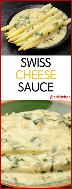 In a world overflowing with orange cheddar cheese sauce, this Swiss sauce stands out. Cheese, milk and flour are all you need for this distinctly flavored sauce. Swiss Cheese Sauce Recipe, Cheese Sauce For Pasta, Cheddar Cheese Sauce, Swiss Recipes, Cheese Recipes, Sauce Recipes, Pasta Recipes, Dip Recipes, Recipies
