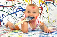 Receita de tinta caseira para crianças