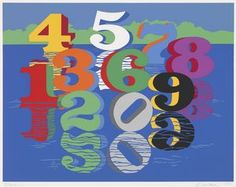"""Robert Indiana (American, b. 1928), """"The Ten Stages Number Sculpture Reflected,"""" 1980; Indianapolis Museum of Art, Gift of Mr. and Mrs. Fred Pacheo, 1988.276; © Morgan Art Foundation/Artists Rights Society (ARS), New York"""