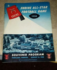1958 shrine all star football program Portland, Oregon state vs metro highschool #AllStar