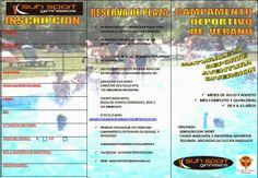 CAMPAMENTO DEPORTIVO SUH SPORT: HOJA DE INSCRIPCIÓN Camping, Blade, Sporty, Summer Time, Blue Prints