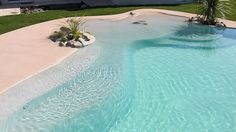 pool that looks like you are at the beach at your own Home
