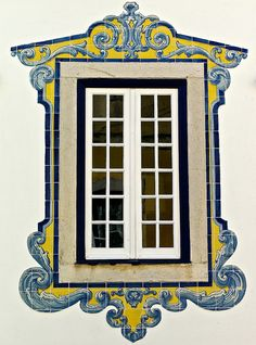 After my recent obsession with how cool and different some of the windows are in Portugal, I've decided to start taking photos of them and make a 'windo. windows of portugal vi. Old Windows, Arched Windows, Windows And Doors, Art Ancien, Portuguese Tiles, Old Doors, Architecture Details, Classic Architecture, Stairways
