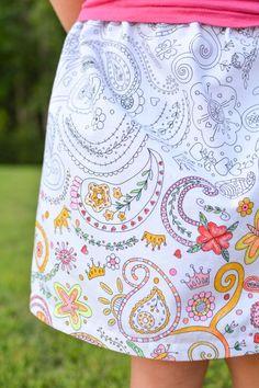 DIY Clothes Refashion : DIY Print Skirt